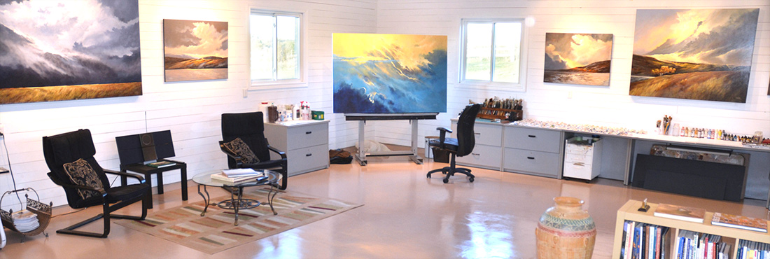 Inside the Art and Painting Studio of JD Thompson, Bloomfield, Ontario
